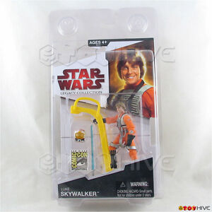 Collection Star Wars de Legacy Luke Skywalker souriant 2009 affaire Comic Con Sdcc 653569433347