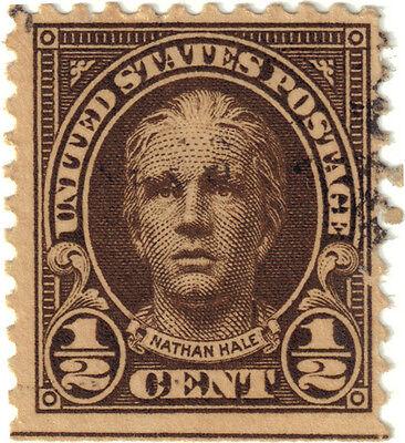 (USA68) 1922 ½c brown Hale ow559