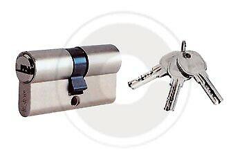 Iseo 8809.30.35 R6 cilindro di sicurezza nichelato 65 mm doppio profilo