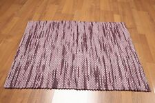 Accent Rug 100% Wool 2x3 Multi-use Textured Aubergine Ombre RUG Foyer Den Bath