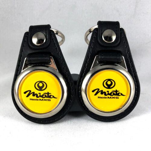 2-Pack Mazda Miata MX-5 NA Colors Keychain Fob Key Ring