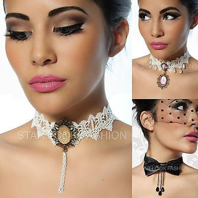 Burlesque-Collier Choker Halsband Vintage-Collier Victorian Kette Gothic-Collier