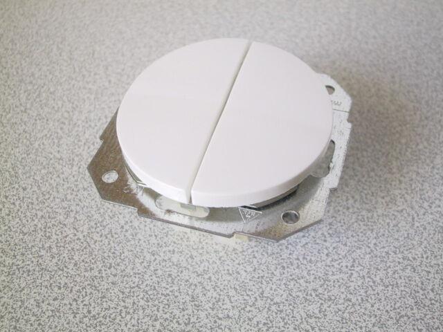 Unterputzschalter Serien Schalter Serienschalter Doppelschalter Weiß KOPP DONAU