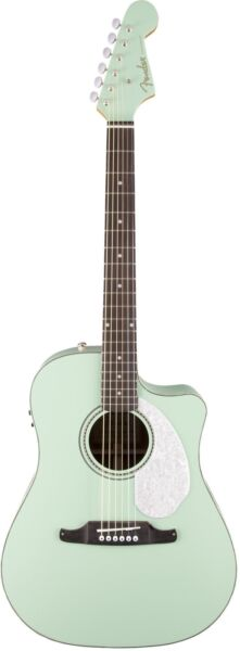 Fender Sonoran Sce Surf Green Acoustic Electric Guitar For Sale Online Ebay