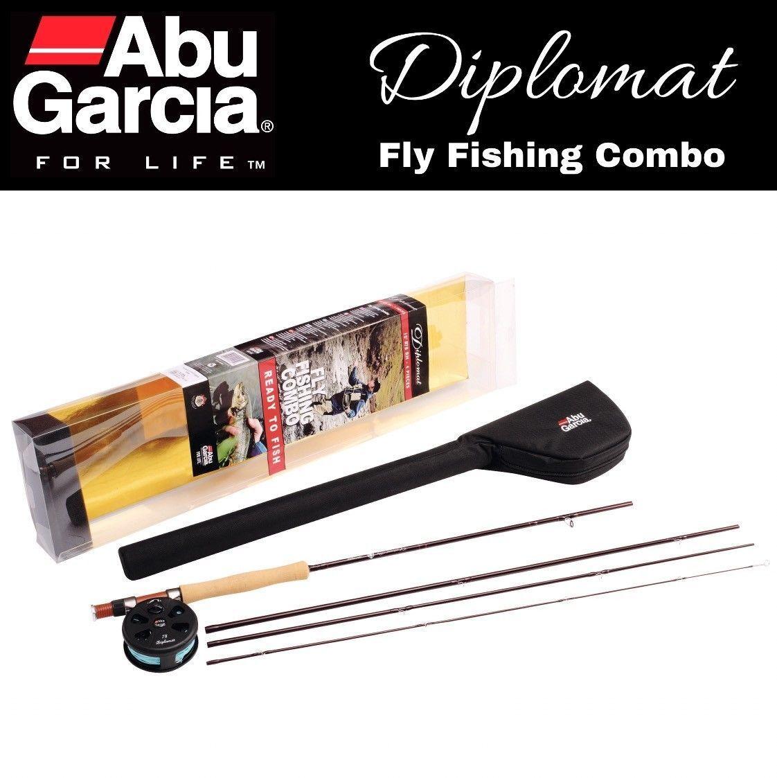 Superba Abu Garcia Diplomat 904 LH 9 FT (ca. 2.74 m) 7 8wt pesca a mosca canna e mulinello combo Linea