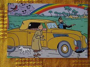 TINTIN-Milou-carte-postale-Q8-postcard-Capitaine-Haddock-kuife-arc-en-ciel-TIM
