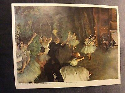 Detail of The Dance or Ballet Class Edgar Degas Art Poster Print 24x36 inch