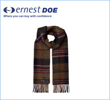 Purple Marl Check Joules Tytherton Wool Checked Scarf