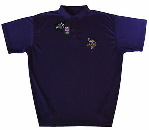 Minnesota-Vikings-NFL-Men-039-s-Performance-Polo-Shirt-Purple-Big-amp-Tall-Sizes-NWT