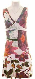 DESIGUAL-Para-Mujer-A-line-Vestido-Talla-6-XS-Multicolor-Algodon-JZ18