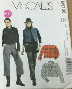 McCalls-M6406-Misses-Jackets-Sizes-14-16-18-20-Uncut-Easy-Sewing-Pattern