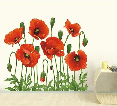 DIY Art Wall Decal Decor Room Stickers Vinyl Removable Paper Mural Flower Window