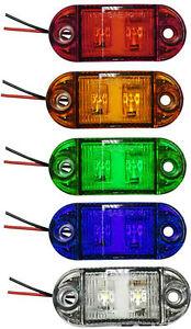 Button-12v-24v-Dual-Volt-LED-Marker-light-lamp-Truck-Bike-Bus-4x4-CHROME-ROUND