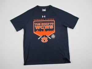 NEW-Under-Armour-Auburn-Tigers-Navy-Blue-HeatGear-Short-Sleeve-Shirt-L