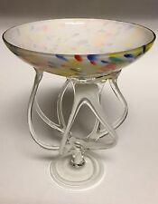 Art Glass Sculpture Octopus Jellyfish Bowl Dish Jozefina Krosno Poland