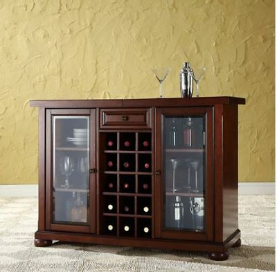 Home Mini Bar Liquor Cabinet Display Case Furniture Wood Wine Bottle Rack  Brown 710244282109 | eBay
