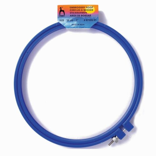 FB0520-87302//01 Pony Plastic Ring Hoop Choice of 5 Sizes Blue