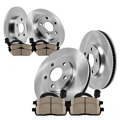 Front Quality 320 mm Replacement Brake Disc Rotors and Ceramic Pads For A6