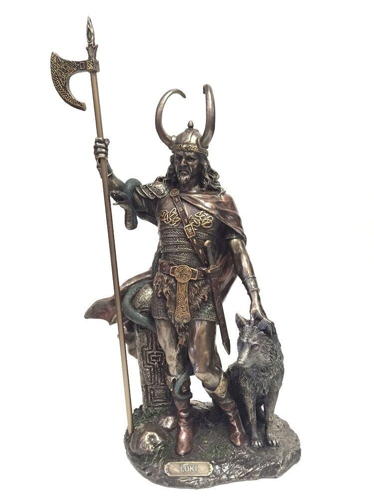Loki Dios Nórdico Estatua Escultura Truquero Archenemy de Thor-Enviamos A Todo El Mundo