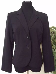 eb4e1402d971a NWT 212 Collection Women s Black Polyester Blend Blazer Jacket Size ...