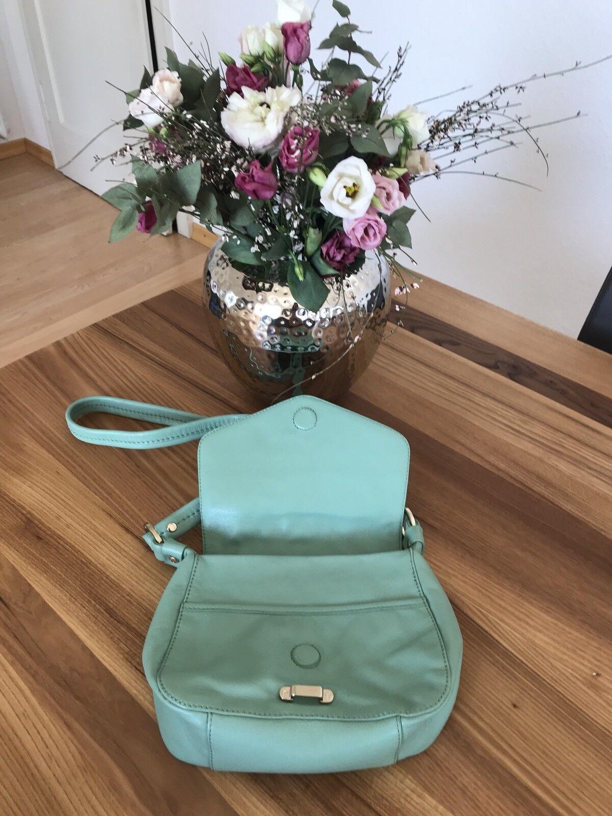 Aigner Original Leder Damen Tasche Umhängetasche in mint Grün NEU NEU NEU   Der Schatz des Kindes, unser Glück    Produktqualität    New Product 2019  ac7502