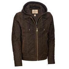 Wilsons Leather Mens Vintage Hooded Genuine Leather Jacket