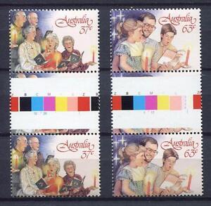 40686-Australia-1987-MNH-Christmas-2v-Gutter-Pair