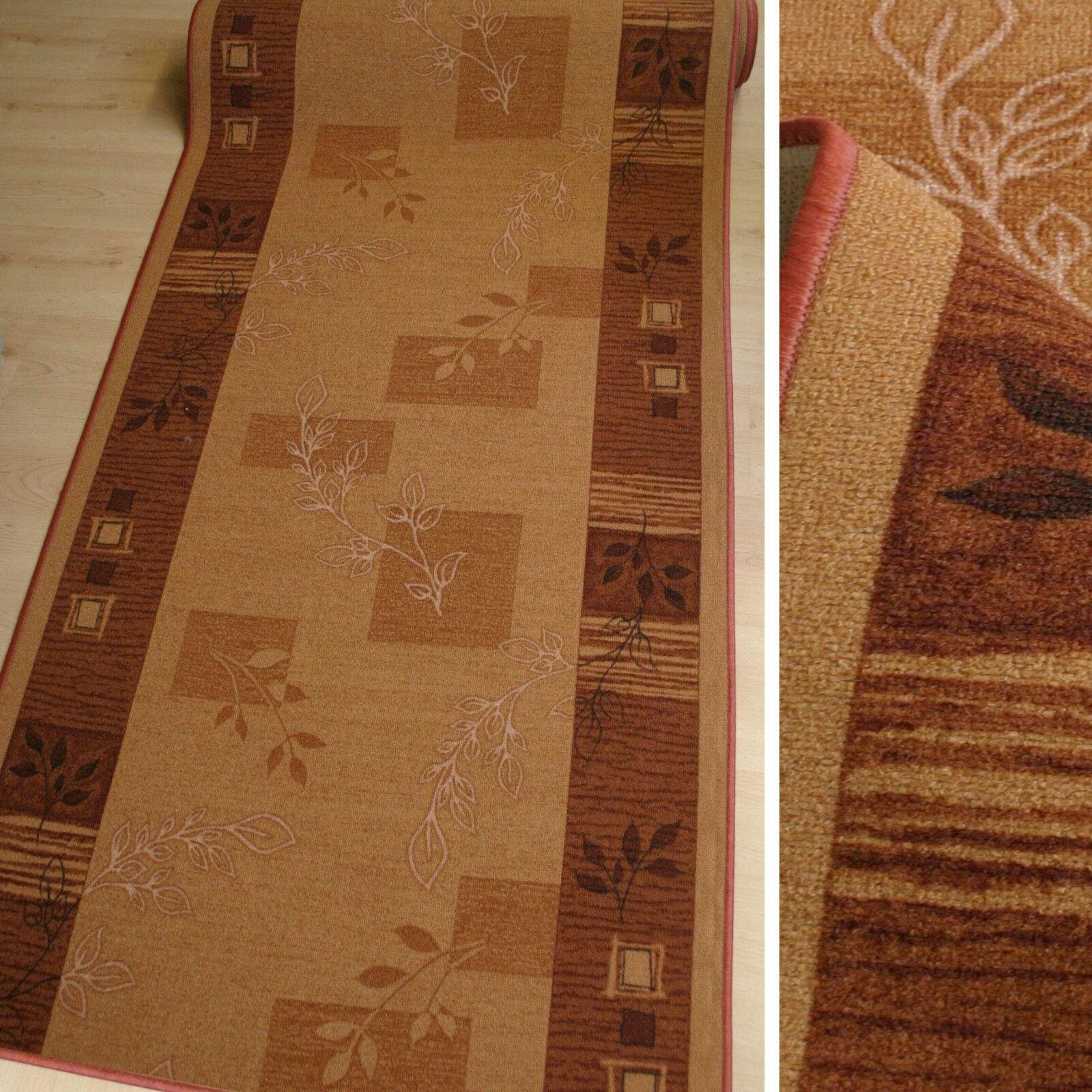 feiner Teppich Läufer AW Julia Terra 80 cm breit flache