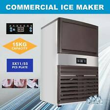 160lbs Auto Built In Commercial Ice Maker Undercounter Restaurant Ice Cube 33lb