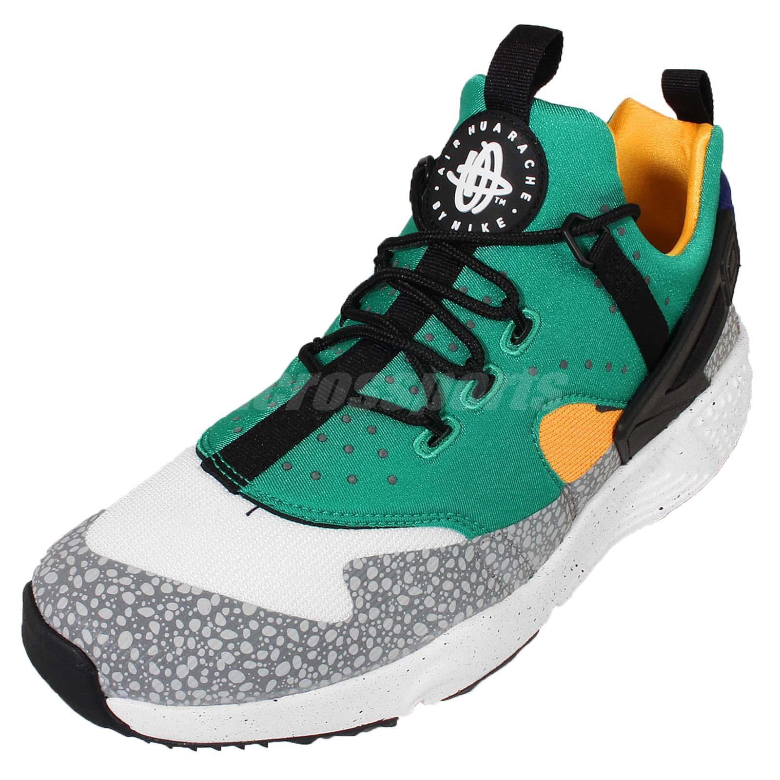 d9f55c88c47 Mens Nike Air Huarache Utility Premium Size 9.5 White Green Shoes 806979 103  for sale online