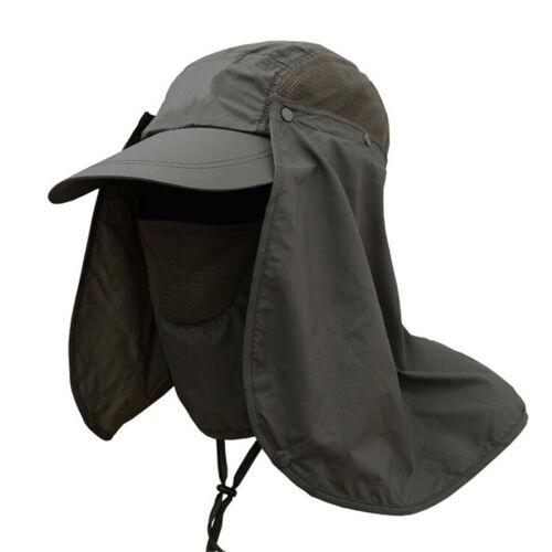 Outdoor Sun Shield Neck Face Mask Mesh Floppy Flap Hat Cap Visor Sunbonnet FF