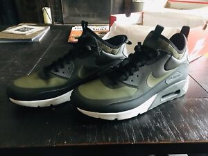 ba224d80b09495 Mens Nike Air Max 90 Ultra Mid Boot Winter Black Olive Size 11.5 ...
