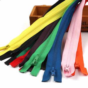 Multi-Color-Chunky-Zipper-Open-Ended-Zip-Plastic-Teeth-55-60-65-75cm-For-Coat-US