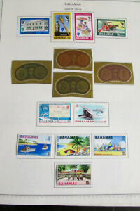 Bahamas Stamp Collection Mint & Used on Minkus Pages