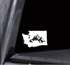 Washington State w Mountains Vinyl Decal Sticker for Car