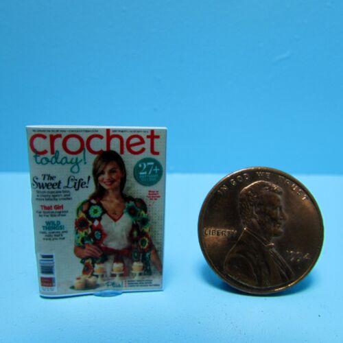 Dollhouse Miniature Replica of Crochet Today Magazine ~ B136