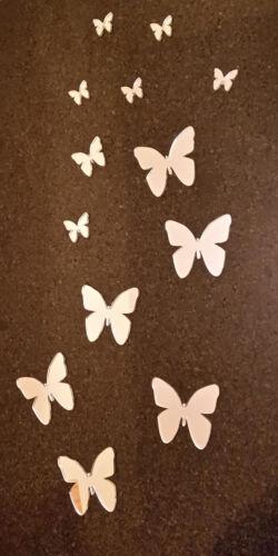 Acrylique papillon mur deco art-décorer filles chambre-finition miroir acrylique