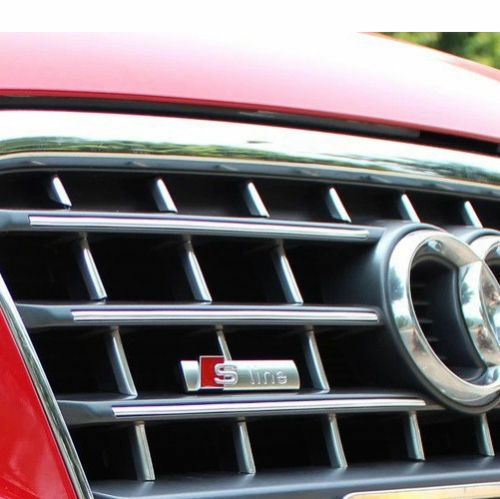 Logo S-LINE RS Gitter Stoßstange Emblem Satin Badge für Audi A1 2 3 4 5 6 8 Q