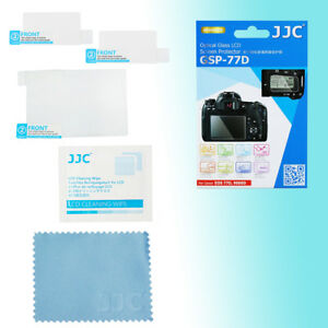 Canon 77D 9000D 9H Hard Tempered Glass LCD Screen Protector Top Back JJC GSP-77D