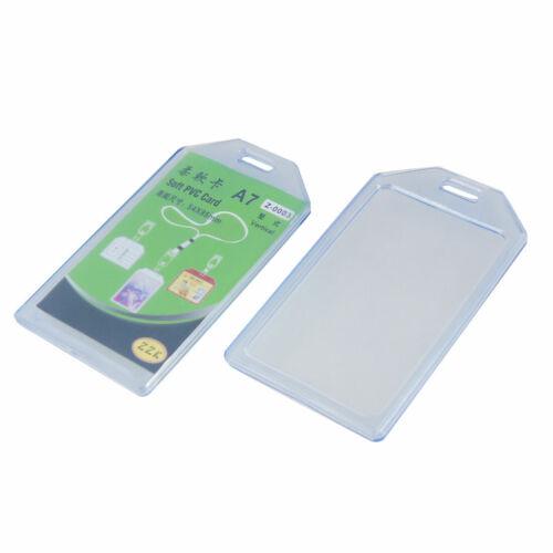 plastique souple bleu clair Business ID Badge support vertical 2pc
