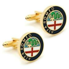 ALPHA ROMEO CUFFLINKS Car Emblem Logo NEW w GIFT BAG Pair Wedding Groom Men's
