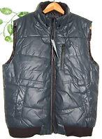 Xios Gray Black Trim Men's Puffy Warm Vest Jacket Tops Size 2xl