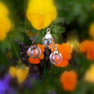5 Miniature GLASS BALL pendants (sphere/ ornaments/ globe/ bottles/ charms)