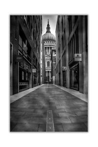 Image Is Loading Famous St Pauls Cathedral Black And White Poster