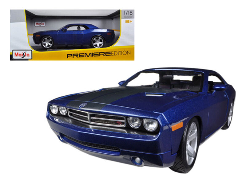 2006 Dodge Challenger Concept bluee 1 18 Diecast Model - 36138bl