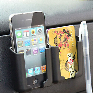 Universal-Auto-Car-Cell-Phone-Card-Holder-Stand-Cradle-Console-Bracket-Box-New