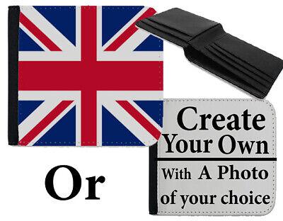 100% Vero Portafoglio Bandiera Union Jack Rosso Bianco E Blu Britannico Inglese Borsetta Borsa Del Denaro C345-