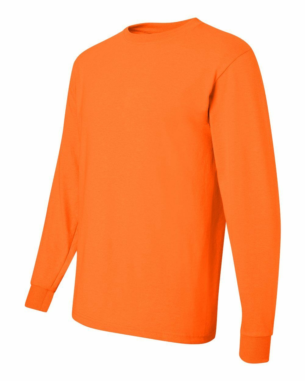 25 JerZee Heavyweight Safety Orange Adult Long Sleeve T-Shirts Bulk Lot S M L XL