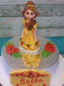 Remarkable Edible Princess Belle Birthday Girl Personalised Handmade Cake Funny Birthday Cards Online Kookostrdamsfinfo
