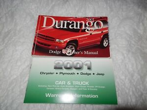 2001 dodge durango owners manual with binder ebay rh ebay com 2001 dodge durango owners manual online 2001 dodge durango slt owners manual